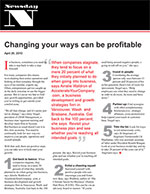 Changing Your Ways Can Be Profitable